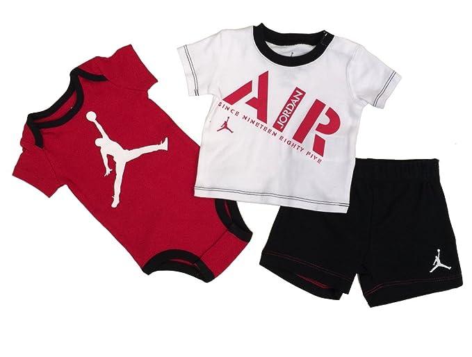 a2dade6b623c45 Nike Jordan Infant New Born Baby Bodysuit and Pants 3 Pcs Layette Set (3