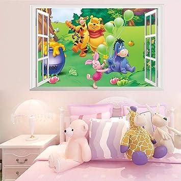Adesivi Murali Per Bambini Disney.Kibi Disney Adesivo Da Parete Winnie The Pooh E Amici Adesivi