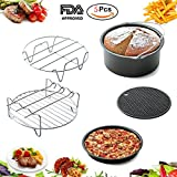 emeril pan 5quart - Air Fryer Accessories- 5 pieces Premium Hot Air Fryer Accessories Kit for Gowise, Phillips, Cozyna and More Brand, Fit all 3.7QT &5.3QT & 5.8QT
