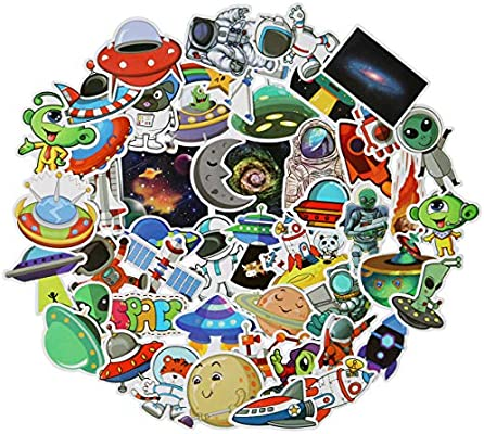 45 Pcs Mixed Different Universe Nasa Space Shuttle Stickers