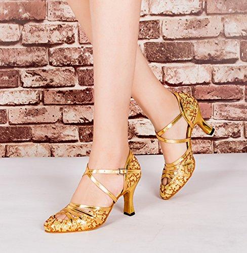 8cm bal Heel Salle Miyoopark Gold femme de wOxXv