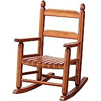 B&Z KD-20N Classic Wooden Child's Porch Chair Rocking Rocker Natural OAK Ages 3-7