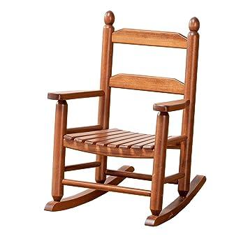 Amazon.com: Mecedora infantil Porch Rocker de madera maciza ...