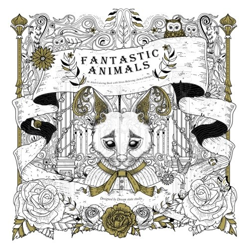 Amazon.com: Fantastic Animals: An adult coloring book with stress ...