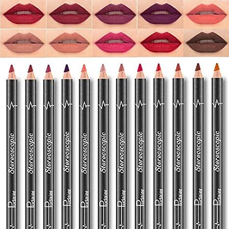 SHINE 6Pcs / set Rouge à lèvres Métallique à lèvres Gloss à lèvres Kit Imperméable Longue Durée à lèvres Beauty Glazed