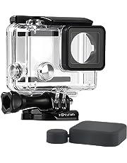 SOONSUN Standard Protective Waterproof Dive Housing Case for GoPro Hero 4, Hero 3+, Hero 3 Black Silver Camera - 40 Meters (131 Feet) Underwater Photography