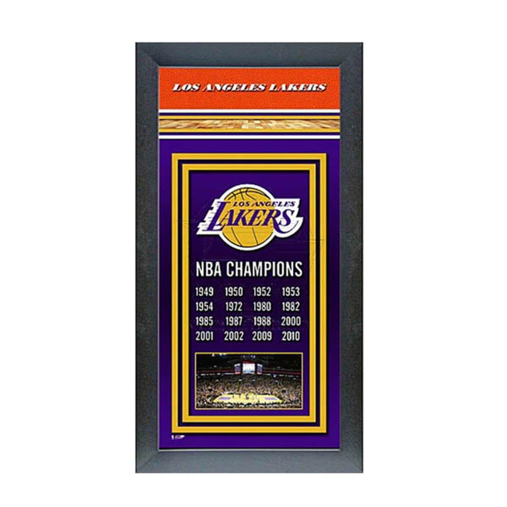 Photo File(ファトファイル) NBA ロサンゼルスレイカーズ Framed Championship Banner - 14.5