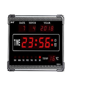 ZRK Inglés Calendario electrónico Creativo LED Reloj de ...