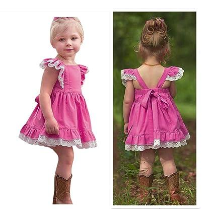 c652077ffaa Princess Dress for Little Girls A-Line Lace Sundress Beach Sunsuit Clothes