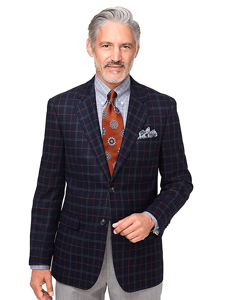 Paul Fredrick Men's Wool Windowpane Notch Lapel Sport Coat JFN110W000000