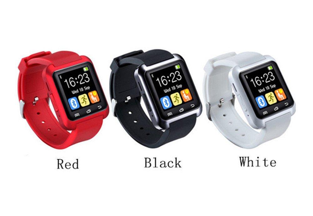 Amazon.com: iTontek® U80 Bluetooth 4.0 Smartwatch Sportswatch Pedometer for Smartphones IOS Apple iPhone,Android Samsung 4 HTC Sony (Black) [Upgraded ...