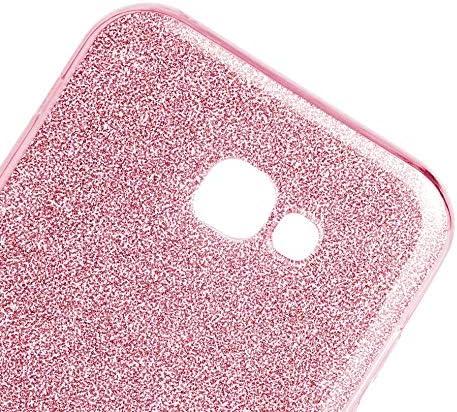 Etui Avant Et Arriere Paillette Noir A5 Housse Bling Design 360/° Protection Integral Anti Choc Coque Compatible avec Samsung Galaxy A5 2016
