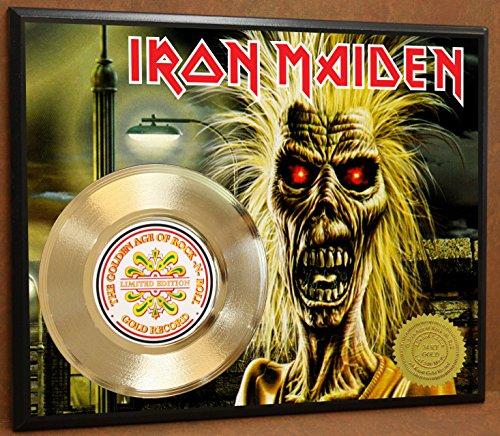 G.A.R.R. Iron Maiden Gold Record Poster Art Limited Edition Commemorative Music Memorabilia Display Plaque ()