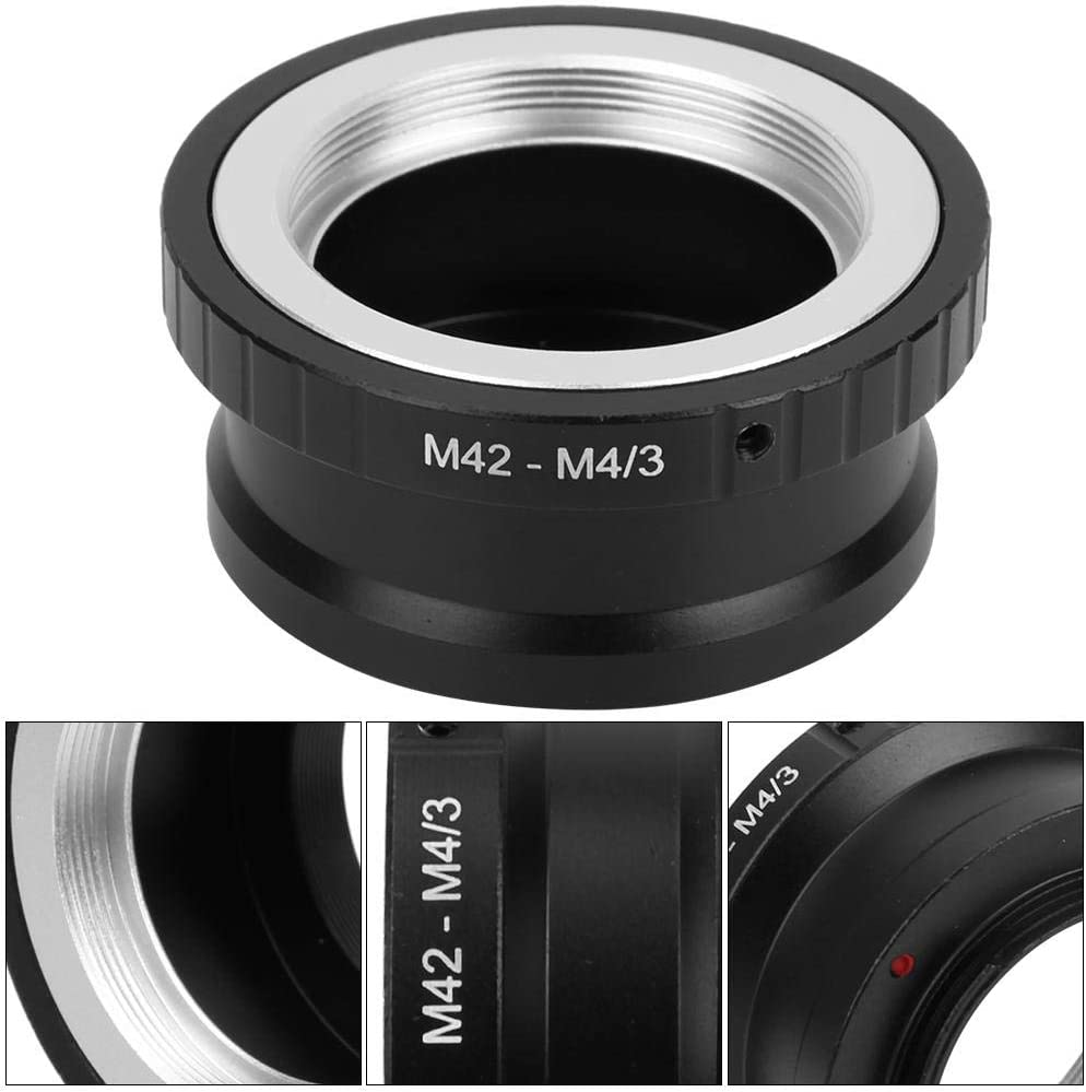 V BESTLIFE M42 Lens Adapter Manual Control Metal Lens Adapter Ring for M42 Mount Lens to Mount for M4//3 Interfaces Camera