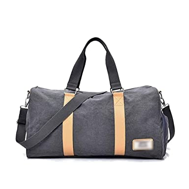 4404d90e69a Image Unavailable. Image not available for. Color: Independent Shose Gym Bags  Women Occident Style Canvas Fitness Crossbody Bag Men Outdoor ...