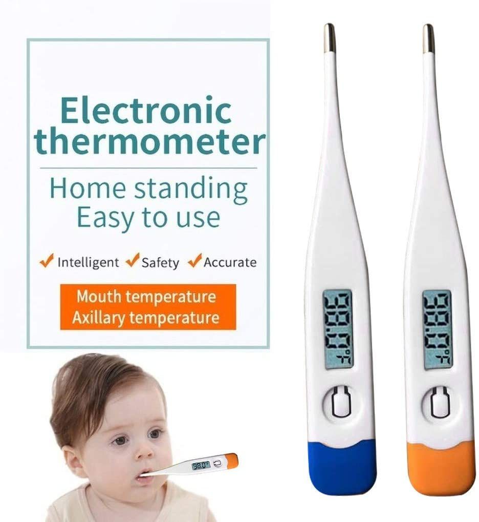 1 pc- Blue Pikolai 2PCS//3PCS Medical Temperature Measurement Digital Thermometers for Child Adult Thermograph Body for Underarm Oral