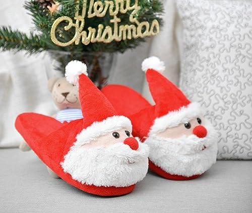 di Pantofole Rojeam Natale del delle Amazon Natale Pantofole Babbo wx6xPpqY