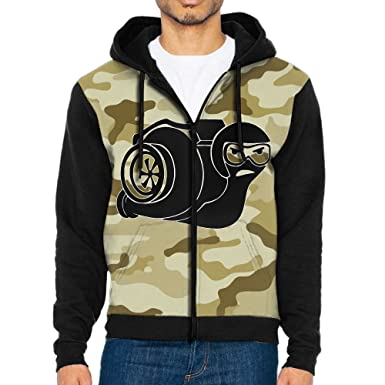 RZWD06 Turbo Boost Snail Mens Fashion Sweatshirt,Long Sleeve Zipper Hoodie For Man