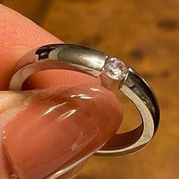 Amazon Rockyu ブランド 人気 レディース 指輪 ブラック リング 13号 ステンレス シンプル ダイヤモンド キラキラ リング 通販