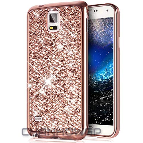 Amazon.com: CouGoo Bling Glitter Silicon Case for Samsung ...