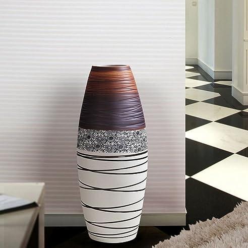 wysm boden große vase keramik 20 * 60cm braun einfaches modernes ... - Grose Vasen Fur Wohnzimmer