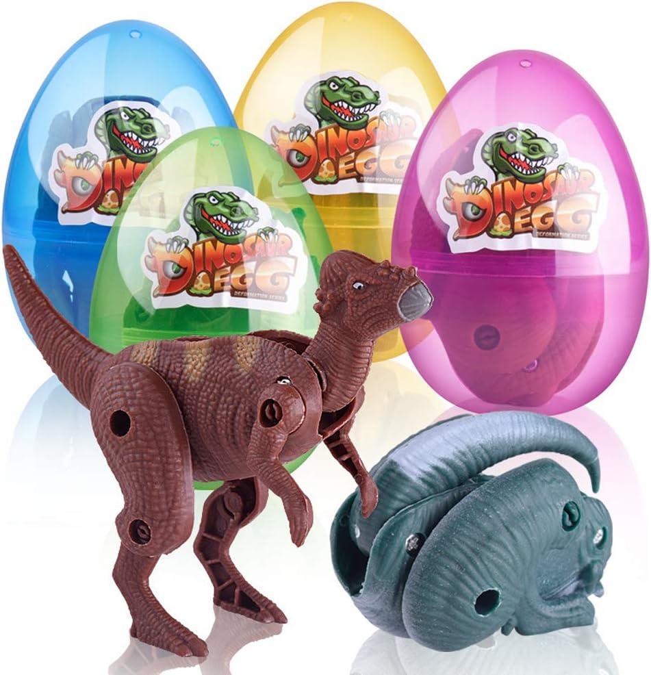 Les Jouets de Dinosaure d/éformables /à lint/érieur eyenjoy Oeufs de P/âques avec des Oeufs de Plastique en Plastique de Dinosaure chassent pour la faveur Cadeaux Parfaits pour Vos Enfants
