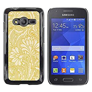 Paccase / SLIM PC / Aliminium Casa Carcasa Funda Case Cover para - Gold Wallpaper Floral Beige Flowers - Samsung Galaxy Ace 4 G313 SM-G313F