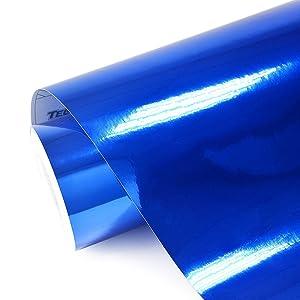 "TECKWRAP 11.5"" x 55"" Blue Chrome Mirror Vinyl Wrap Film Vinyl Roll"