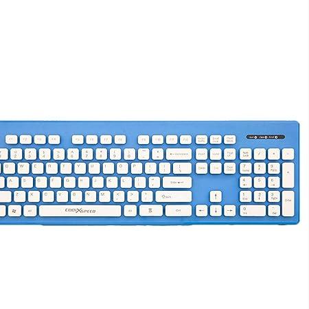 Mingteng Teclado USBWireless Ultra Delgado Teclado de tamaño Completo para computadora/computadora de Escritorio/PC / portátil/Superficie / Smart TV y Windows 10/8/7 / Vista/XPNeed (Color : Blue): Amazon.es: Hogar