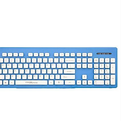 Mingteng USBWireless Keyboard Ultra Slim Full Size Keyboard for Computer/Desktop/PC/Laptop
