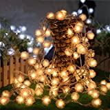 LETOOR Dandelion String Lights Warm White Décor Battery Operated on 16.5ft/5m 40 LED Fairy Starry Patio Light for Christmas Holiday Indoor Outdoor Garden Wedding Party Decoration(Warm White)