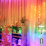 Led Curtain String Light Rainbow Color for Bedroom Wedding Party Window Decorate (Rainbow Color)