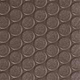 Rubber-Cal ''Coin-Grip Anti-Slip Rubber Mat - 2mm x 4ft x 30ft Rolled Rubber - Brown