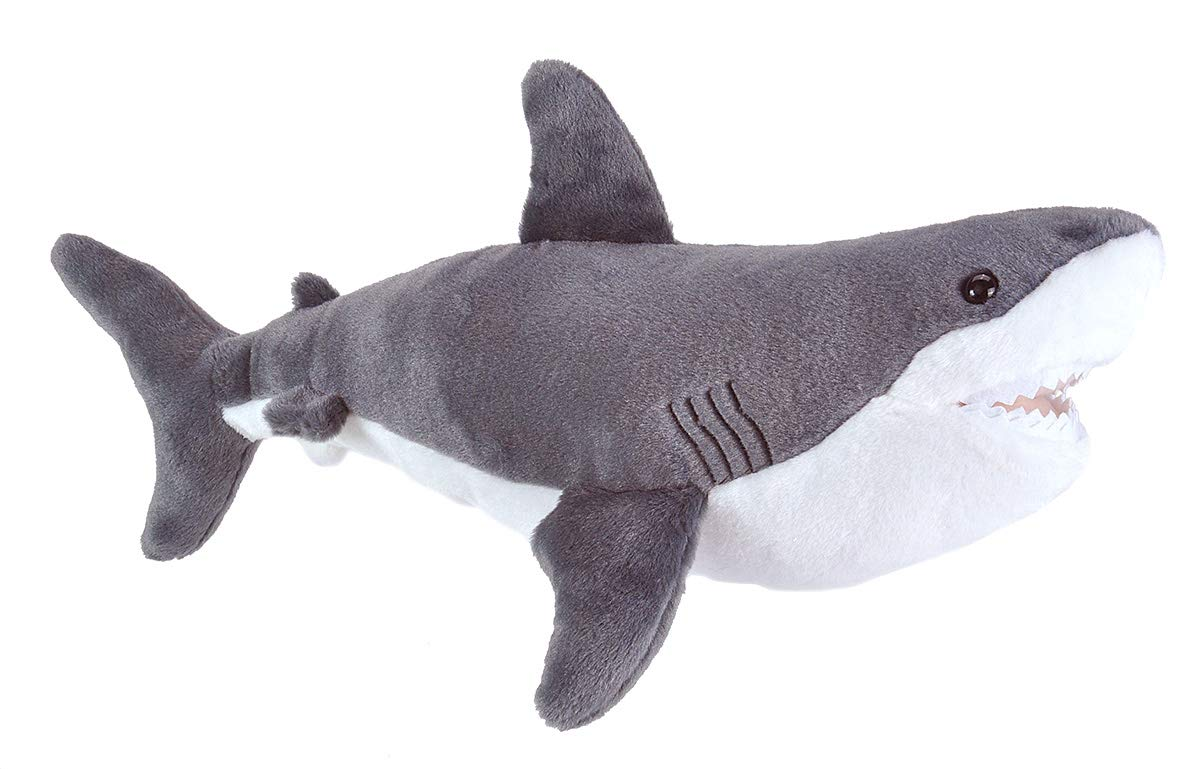 Wild Republic Great White Shark Plush Stuffed Animal Toy, Gifts for Kids, Cuddlekins 20""