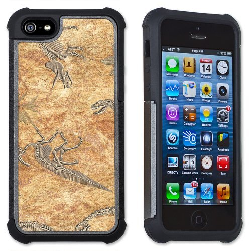 Dinosaur Fossils - Maximum Protection Case / Cover with Cushioned Corners for iPhone 4 & iPhone 4S