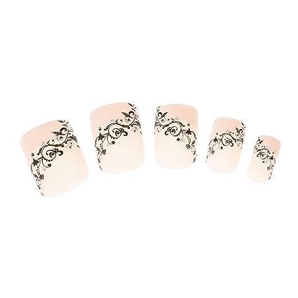 Claires-mujer 24-Lote De uñas, diseño De flores y, diseño De