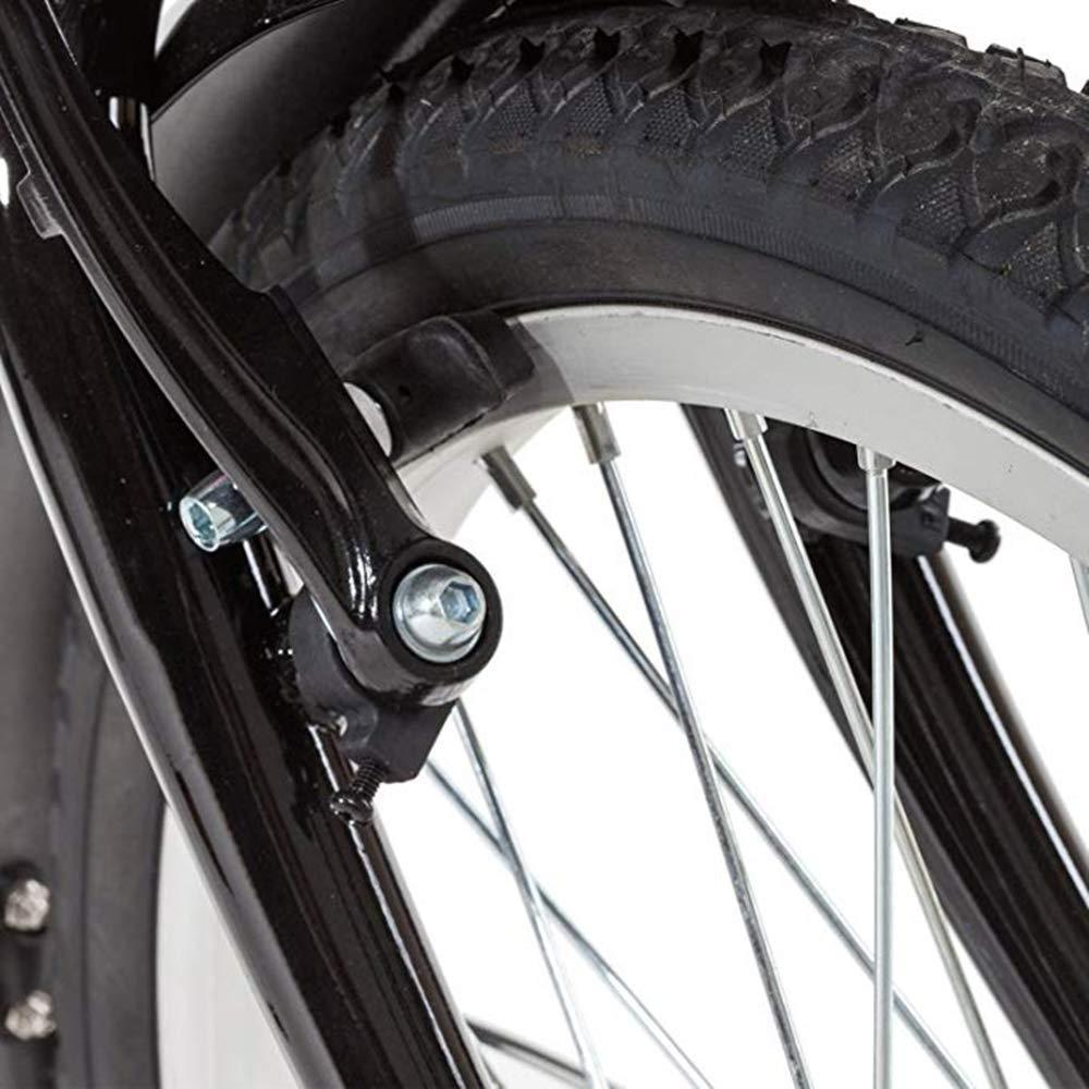 ECOSWAY 2 Pares V Bicicleta Pastillas de Freno Freno de Bicicleta Bloques Juego Tricolor Color Freno Cuero Bicicleta Silencioso Zapatas de Freno