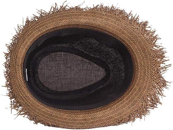 EERTX – Sombrero de pesca para verano con protección UV, gorro de pesca para mujer, gorro de pescador ancho, unisex, plegable, varios tamaños, color natural, chlaffer playa, sombrero de sol, ala ancha