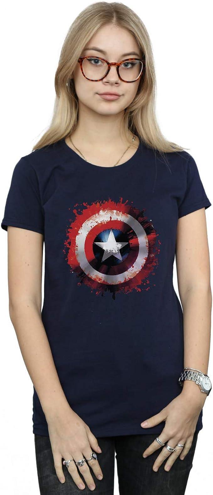 Marvel Femme Avengers Captain America Art Shield T Shirt