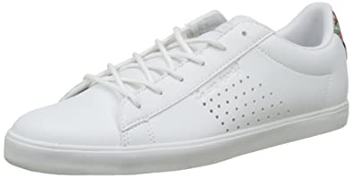 Womens Agate Lo Tropical Paradise Low-Top Sneakers, White Le Coq Sportif