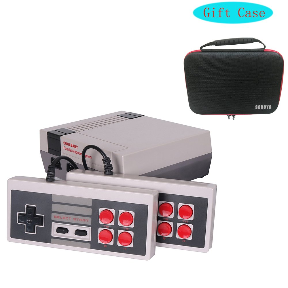 Simoner Classic Video Games Console, Family Handheld NES Console Built-in 600 Game Player with 2 Button Controllers