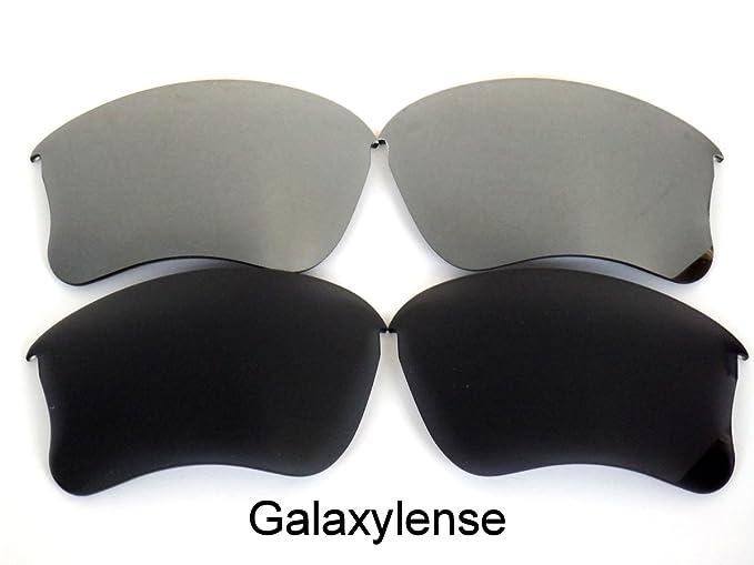 Galaxylense lentes de repuesto para Oakley Flak Jacket XLJ negro y gris Color Polarizados 2 Pares
