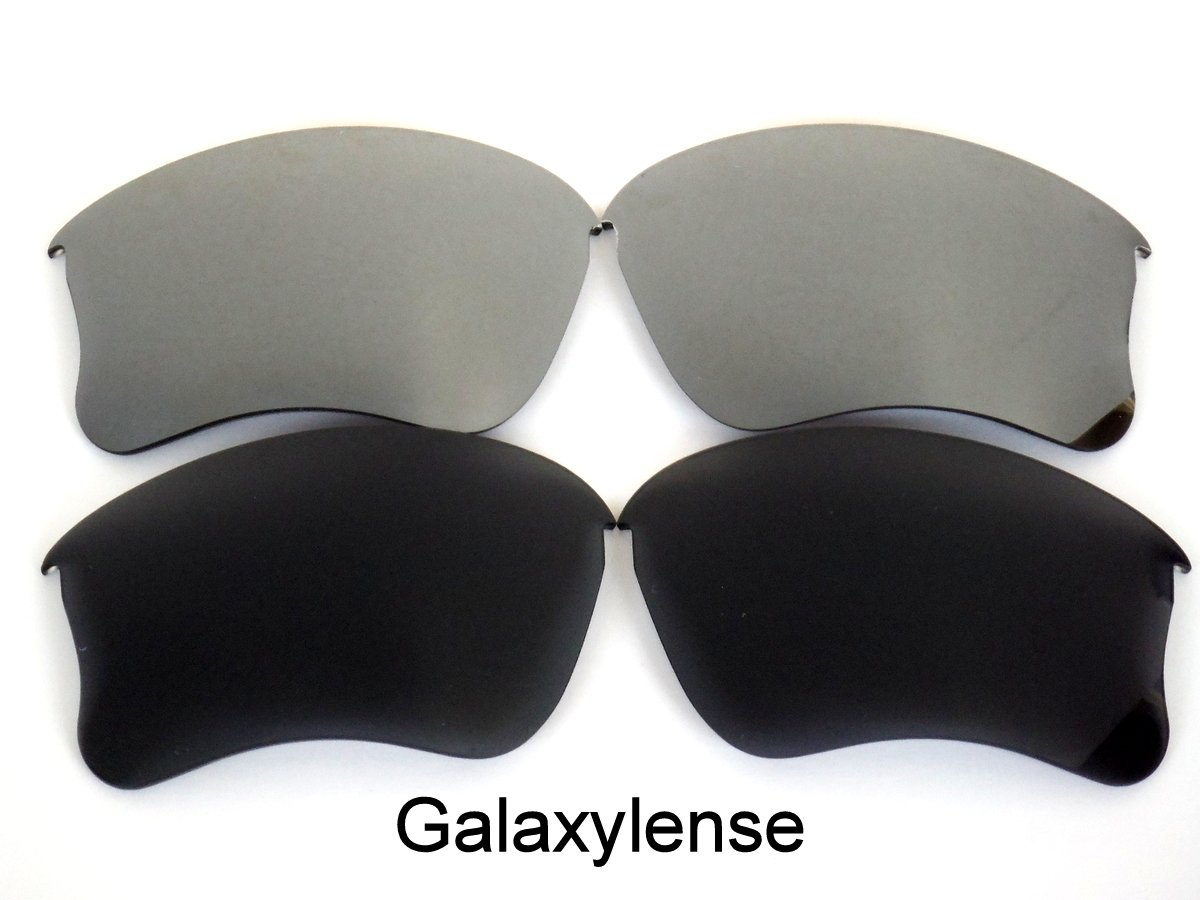 Galaxy Replacement Lenses for Oakley Flak Jacket XLJ Black&Gray Color Polarized 2 Pairs, by Galaxylense