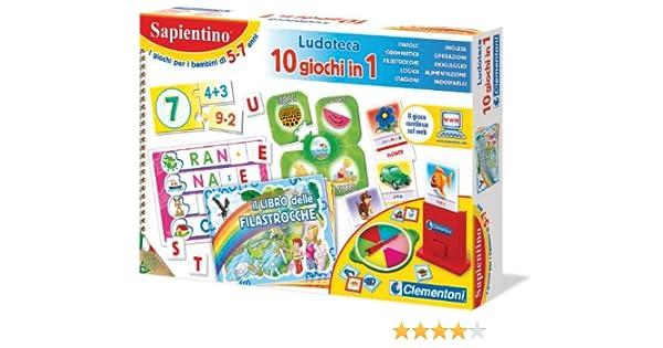 Clementoni 12801 La Ludoteca de Sapientino - Juego de 10 Juegos en 1: Aa.Vv: Amazon.es: Juguetes y juegos