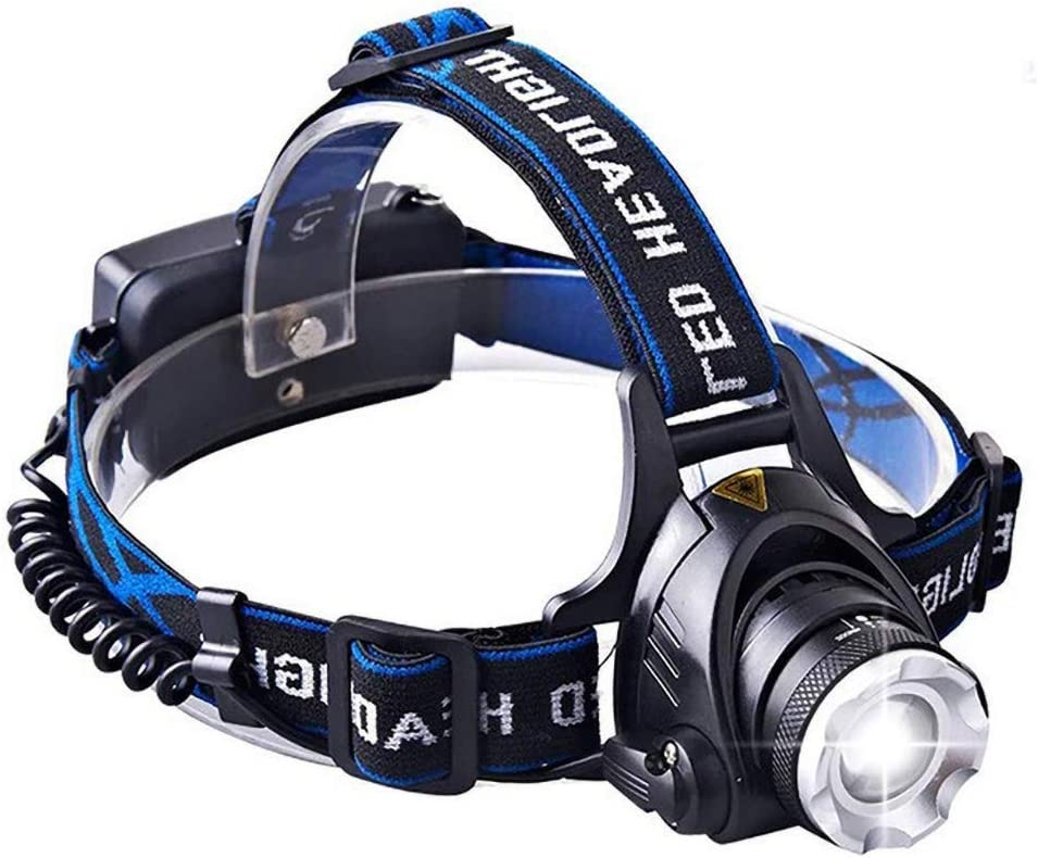 USB Rechargeable Super Bright Waterproof Head Torch Headlight LED Headlamp Fish