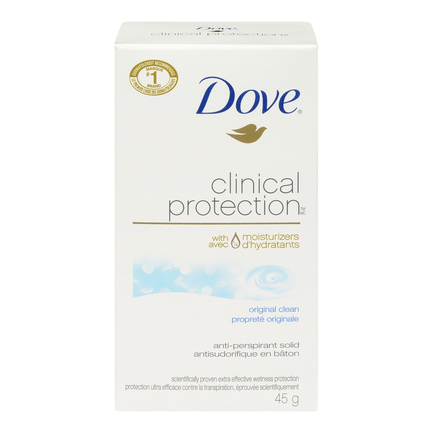 Dove Clinical Protection Original Clean Anti-Perspirant Solid 45g