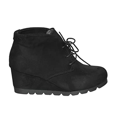 NEW STYLES!! Women's Fashion Lace up Comfort Platform Wedge Bootie