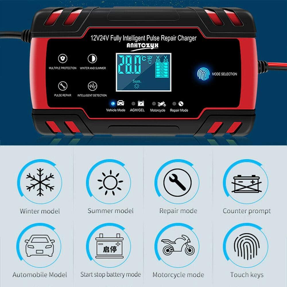 24V Power Bank Ladeger/ät mit LCD-Display mit Batteriereparatur und Wartungstechnologie Tabanlly Auto-Starthilfe Notfall 12V