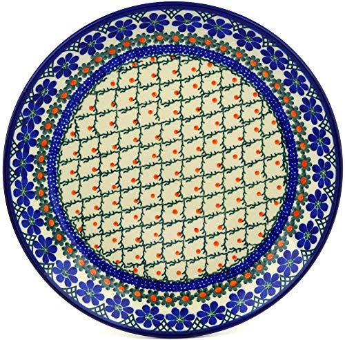 Polish Pottery 10½-inch Dinner Plate made by Ceramika Artystyczna (Primrose Trellis Theme) + Certificate of Authenticity ()