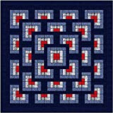 Easy Quilt Kit Boxed Maze/Patriotic/Expedited Shipping/Queen